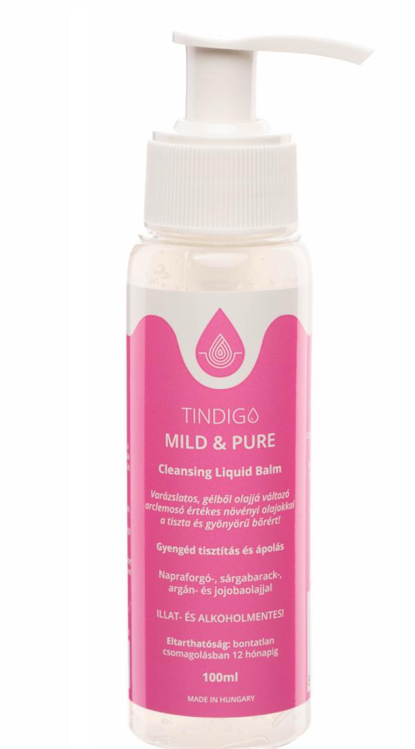 Tindigo Mild&Pure Cleansing Liquid Balm érzékeny bőrre