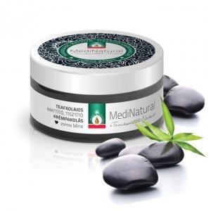 Medinatural tisztító arcpakolás teafaolaj zöldagyag orvosi szén zsíros bőrre