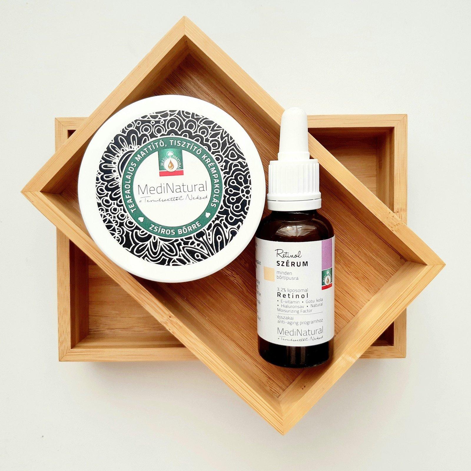 MediNatural Retinol és Tisztító krémpakolás duó kombinált, zsíros bőrre