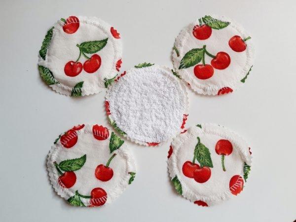Mosható arctisztító korongok (5 db) tüll mosózsákkal