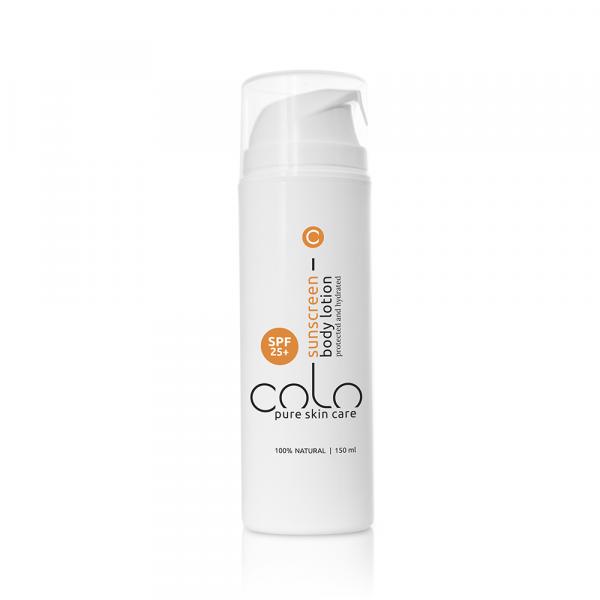 COLO Natúr fényvédő naptej SPF25+ anti-aging hatással